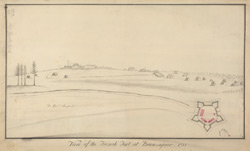 View of the French Fort at Beau Sejour, 1755
